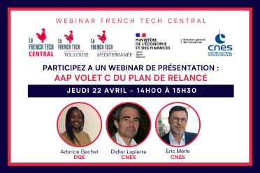 Webinar French Tech Central - Présentation de l'AAP Volet C Plan de Relance